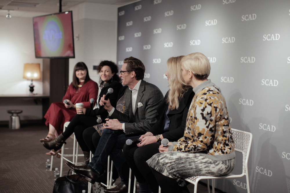 (L-R) Lyn Paolo, Kristin Burke, Daniel Lawson, Meredith Markworth-Pollack and Jennifer Rogein during the panel discussion at aTVfest 2016./Photo by Tyler McClelland.