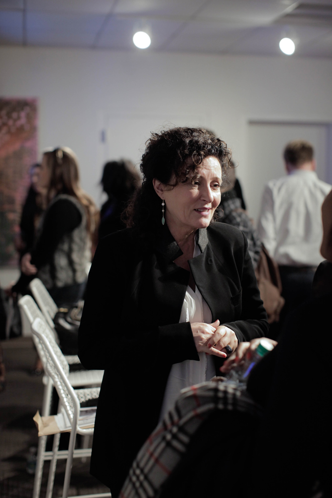 Lyn Paolo greets audience members after the panel discussion./Photo by Tyler McClelland.