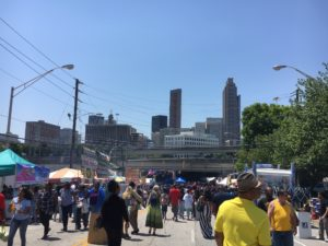 The 32nd annual Sweet Auburn Festival brings masses to Sweet Auburn district of Atlanta.