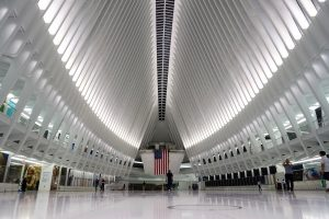 "World Trade Center Transportation Hub ""Oculus"". Photo by Jeanie Lo."