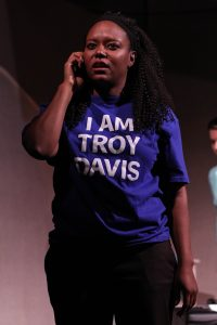 Cynthia D. Barker as Lucy in Synchronicity Theatre's Beyond Reasonable Doubt: The Troy Davis Project by Lee Nowell. Credit: BreeAnne Clowdus.