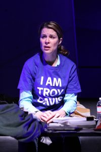 Lane Carlock as Alison in Synchronicity Theatre's Beyond Reasonable Doubt: The Troy Davis Project by Lee Nowell. Credit: BreeAnne Clowdus.