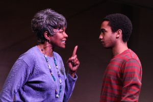 Terry Henry (Mary) and Stephen Ruffin (Curtis) in Synchronicity Theatre's Beyond Reasonable Doubt: The Troy Davis Project by Lee Nowell. Credit: BreeAnne Clowdus.